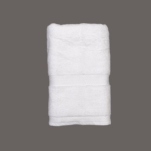 "Sirocco White Bath Towel, 27""x54"""