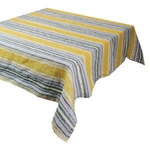 "Sombrilla Curry Tablecloth 61""x61"", 100% Linen"