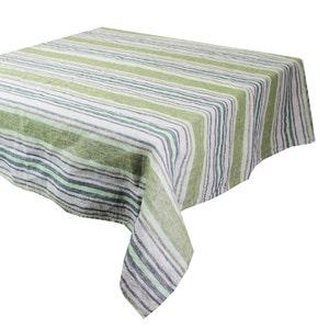 Sombrilla Olive Tablecloth, 100% Linen