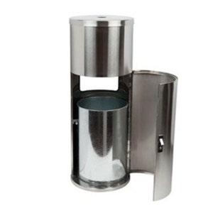 "Stylish Stainless Steel Floor Stand Wipe Dispenser, 36""x14"""