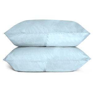 Sunrise Sky Blue Set of 2 King Sateen Pillow Cases