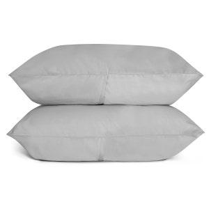 Sunrise Cloud Grey Set of 2 King Sateen Pillow Cases