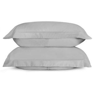 Sunrise Cloud Grey Set of 2 King Sateen Pillow Shams
