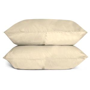 Sunrise Ivory Set of 2 King Sateen Pillow Cases