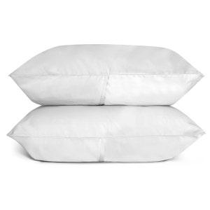 Sunrise White Set of 2 King Sateen Pillow Cases