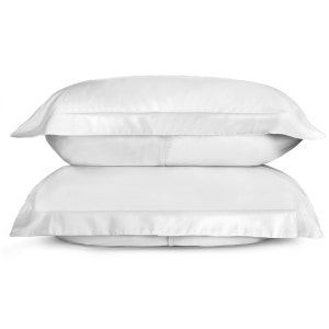 Sunrise White Set of 2 King Sateen Pillow Shams