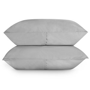 Sunset Cloud Grey Set of 2 King Brushed Percale Pillow Cases