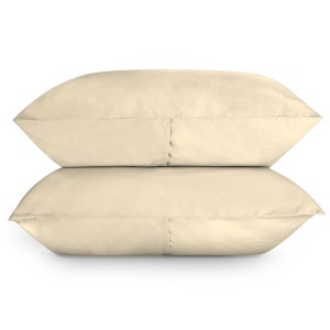 Sunset Ivory Set of 2 King Brushed Percale Pillow Cases