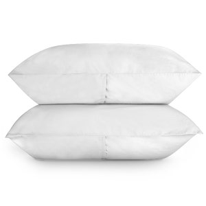 Sunset White Set of 2 Standard/Queen Brushed Percale Pillow Cases