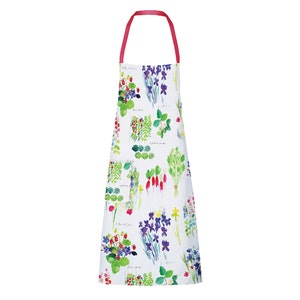"Mille Fraisiers Printemps Apron 28""x33"", 100% Cotton"