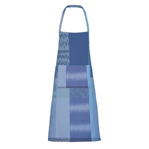 "Mille Matieres Abysses Apron 30""x33"", Coated Cotton"