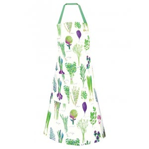 "Mille Potager Printemps Apron 28""x33"", 100% Cotton"