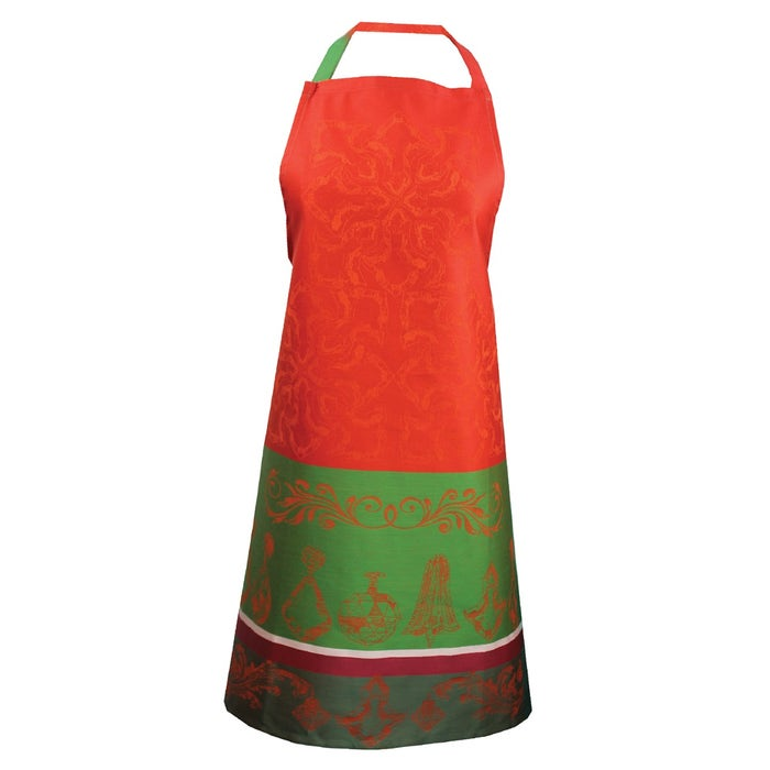 Noel Baroque Rouge Apron, Green Sweet Stain-Resistant Cotton