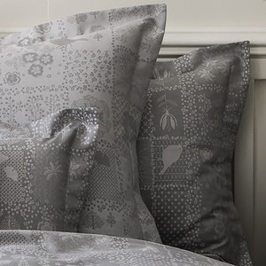 Secret Garden Grey Pillow Case