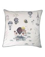 Voyage en Ballon Vintage Cushion Cover