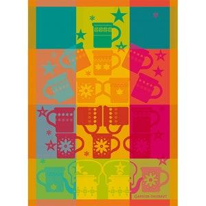 Mugs Celebration Jacquard Kitchen Towel Image