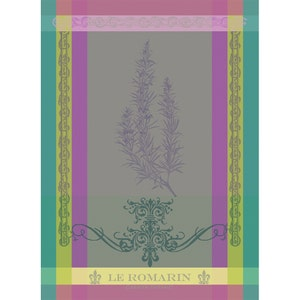 "Brin De Romarin Orchidee Kitchen Towel 22""x30"", 100% Cotton"
