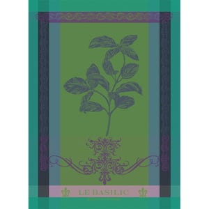 "Brin De Basilic Vert Kitchen Towel 22""x30"", 100% Cotton"