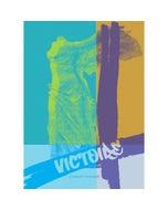 """Louvre Victoire Turquoise Kitchen Towel 20""""x28"""", 100% Cotton"""