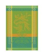"Main de Bouddha Vert Kitchen Towel 22""x30"", 100% Cotton"
