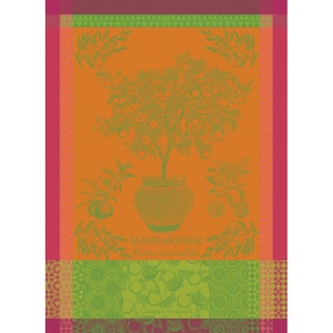 "Mandarinier Pot Orange Kitchen Towel 22""x30"", 100% Cotton"