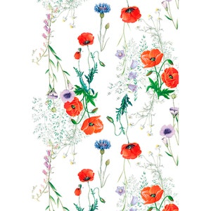"Mille Coquelicots Floraison Kitchen Towel 20""x28"", 100% Cotton"