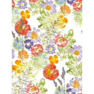 "Mille Fleur Sauvage Floraison Kitchen Towel 20""x28"", 100% Cotton"