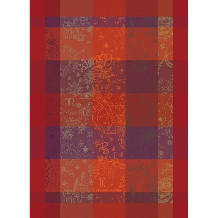 Mille Couleurs Flamboyant Kitchen Towel, 100% Organic Cotton