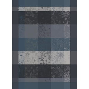 "Mille Couleurs Dark Grey Kitchen Towel 22""x30"", 100% Organic Cotton"