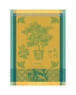 """Mimosa Jaune Kitchen Towel 22""""x30"""", 100% Cotton"""