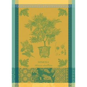 "Mimosa Jaune Kitchen Towel 22""x30"", 100% Cotton"