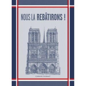 """Notre Dame 2019 Kitchen Towel 22""""x30"""", 100% Cotton"""