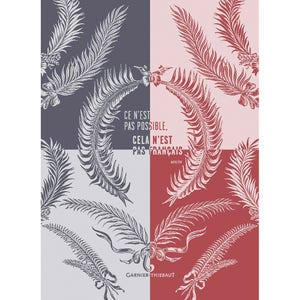"Palmes Cmn Marseillaise Kitchen Towel 22""x30"", 100% Cotton"