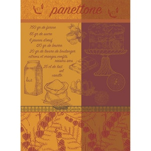 "Panettone Dore Kitchen Towel 22""x30"", 100% Cotton"