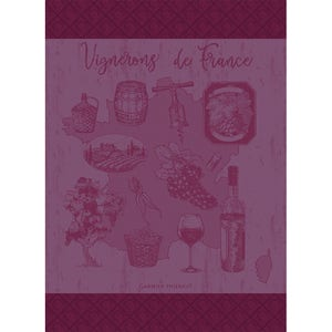 "Vignerons De France Muscat Kitchen Towel 22""x30"", 100% Cotton"