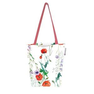 """Mille Coquelicots Floraison Tote Bag 15""""x15"""", 100% Cotton"""
