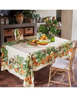 Vintage Garden Natural Tablecloth, 100% Linen Image