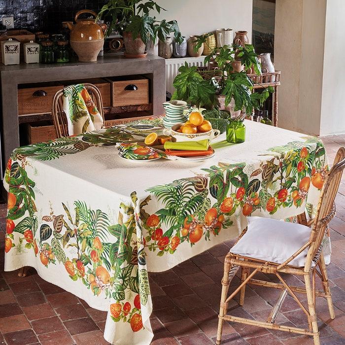 Vintage Garden Natural Tablecloth