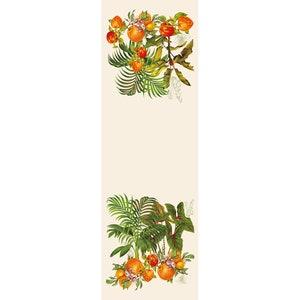 Vintage Garden Natural Tablerunner, 100% Linen Image