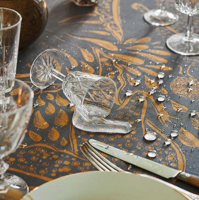 Green Sweet Stain Resistant image of glass spilled on tablecloth